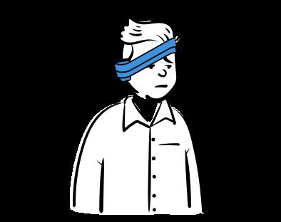 Cilvēkam apsējs aptīts ap galvu