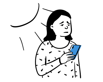 Apbēdināts cilvēks ar telefonu rokās, kuram no mugurpuses spīd saule